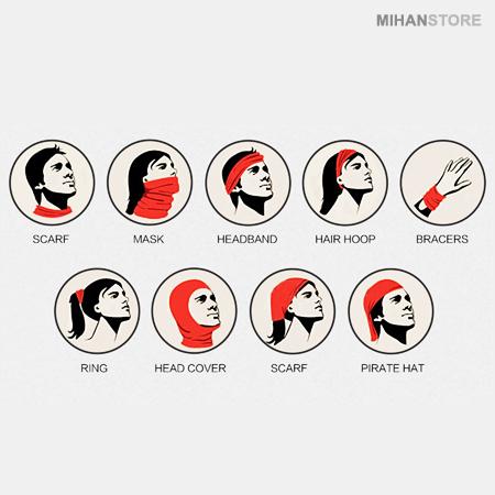دستمال سر و گردن HeadWear ضد بو ضد حساسیت