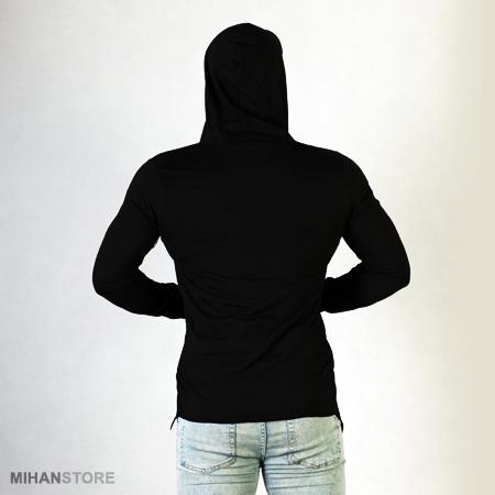 لباس هودی مردانه مدل بلند رنگ مشکی