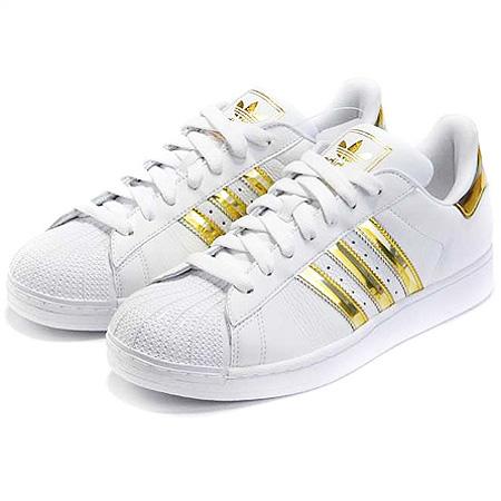 خرید کفش اسپرت سفید و طلایی دخترانه  چرم مصنوعی